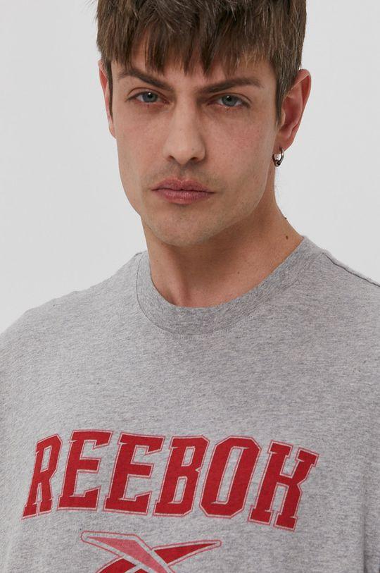 szary Reebok Classic - T-shirt