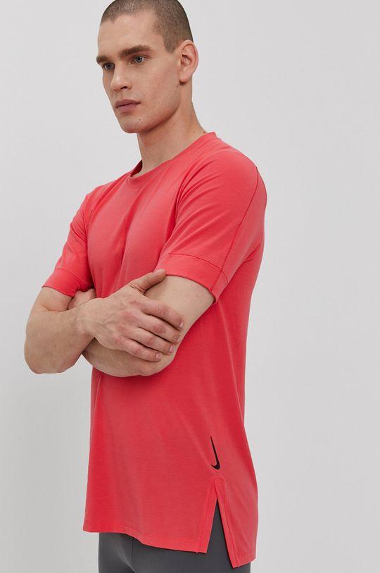 czerwony róż Nike - T-shirt Męski