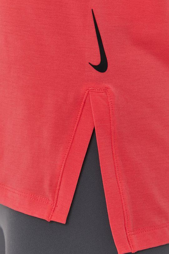 czerwony róż Nike - T-shirt