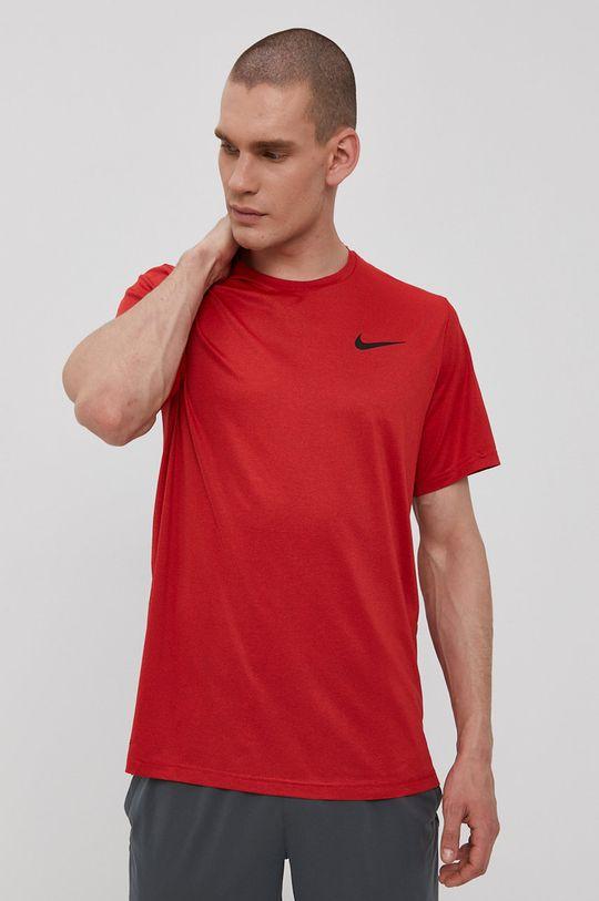 Nike - T-shirt ostry czerwony