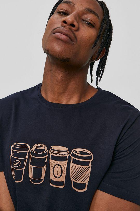 John Frank - T-shirt granatowy
