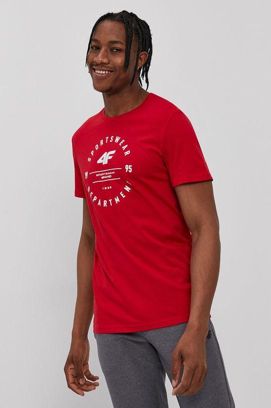 červená 4F - Tričko Pánsky