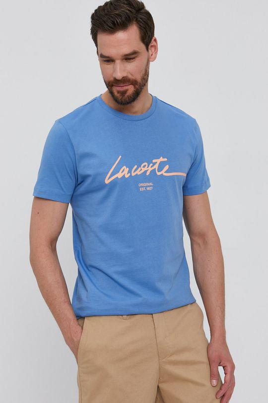 modrá Lacoste - Tričko Pánský