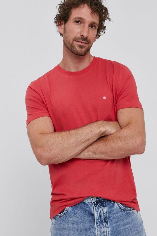 czerwony Calvin Klein - T-shirt Męski
