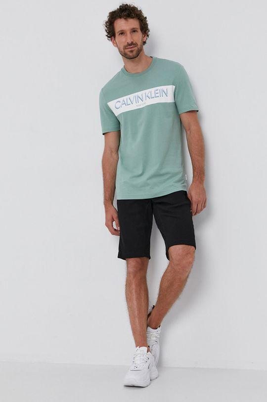 Calvin Klein - T-shirt halvány zöld