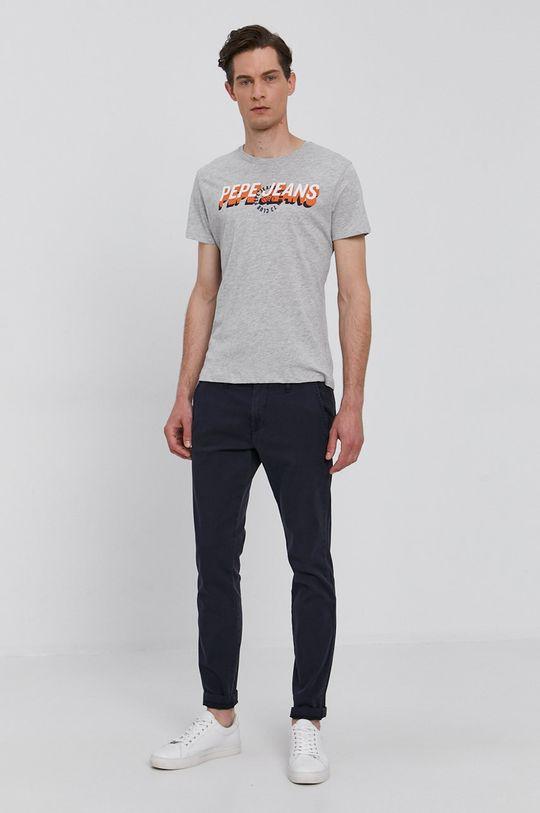 Pepe Jeans - Tričko FYNCH šedá
