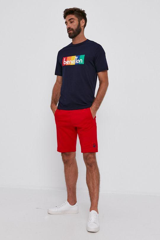 United Colors of Benetton - Bavlnené tričko tmavomodrá