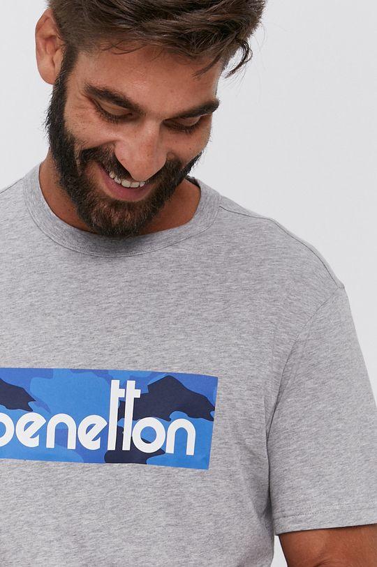 United Colors of Benetton - T-shirt bawełniany szary
