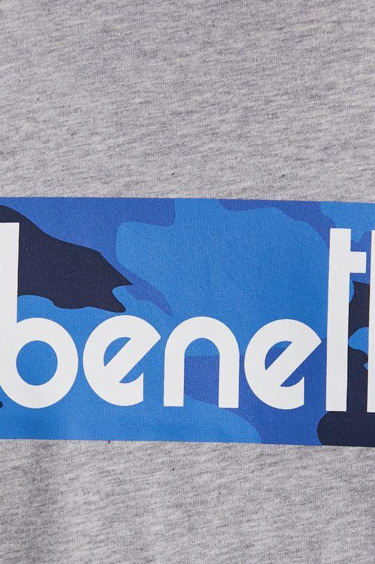 szary United Colors of Benetton - T-shirt bawełniany