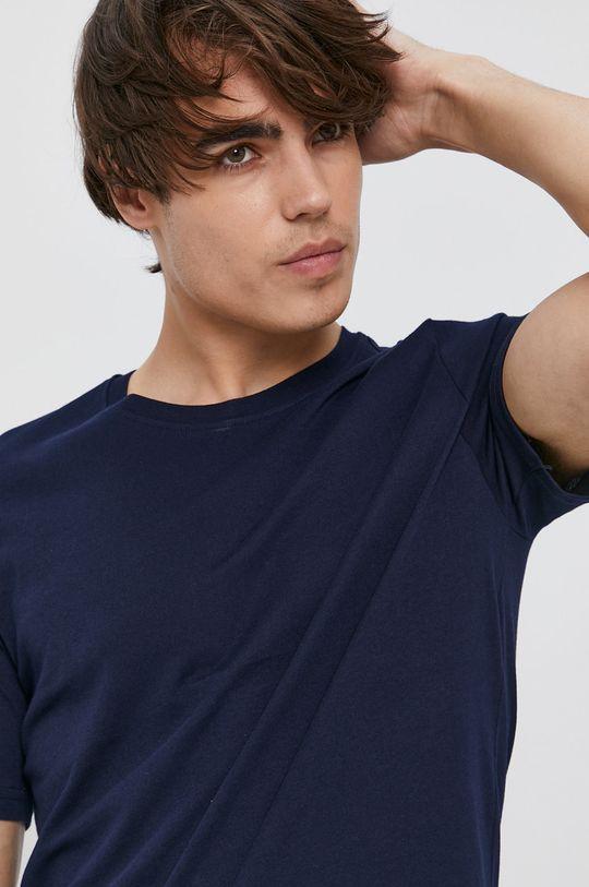 tmavomodrá United Colors of Benetton - Bavlnené tričko