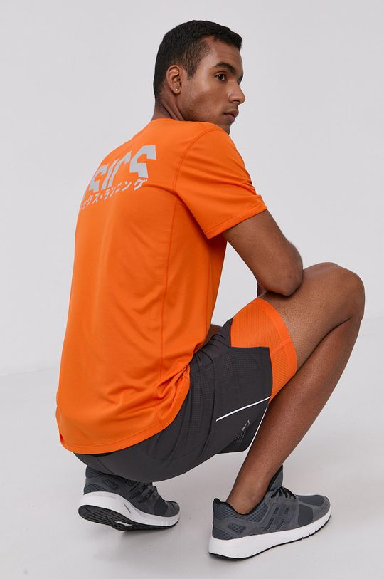 pomarańczowy Asics - T-shirt Męski