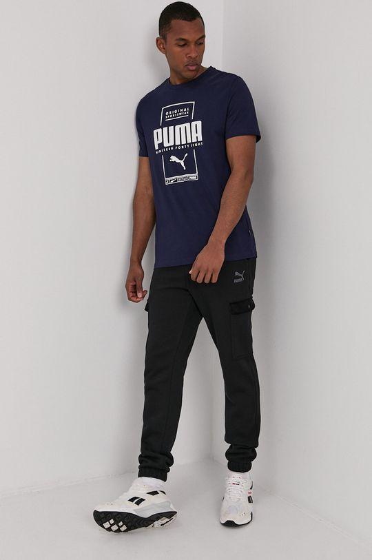granatowy Puma - T-shirt Męski