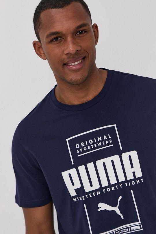 granatowy Puma - T-shirt