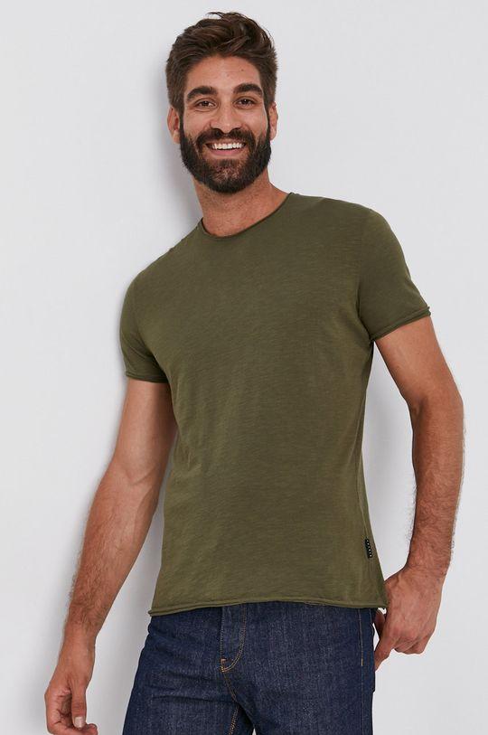 olivová Sisley - Bavlněné tričko Pánský