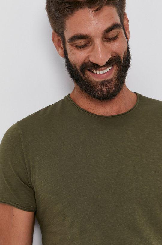 olivová Sisley - Bavlněné tričko