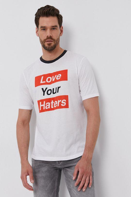 biały Sisley - T-shirt Męski