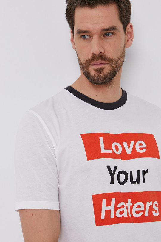 biały Sisley - T-shirt