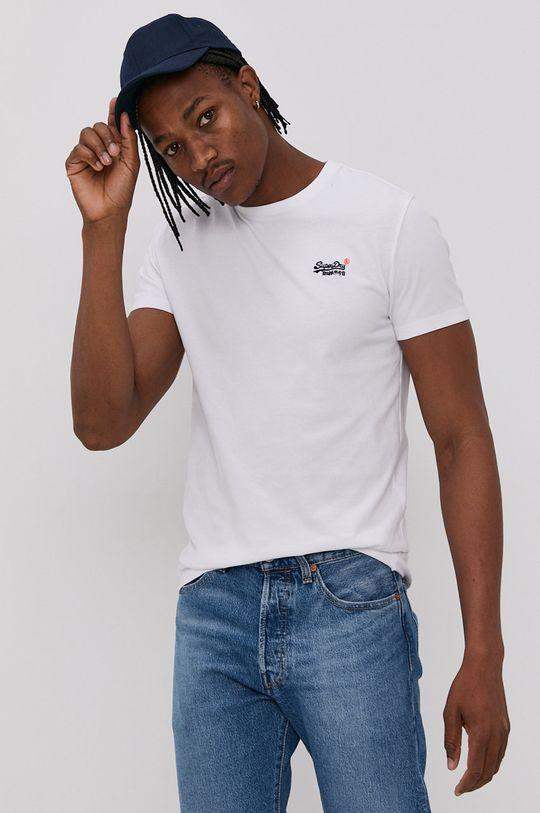 biały Superdry - T-shirt bawełniany Męski