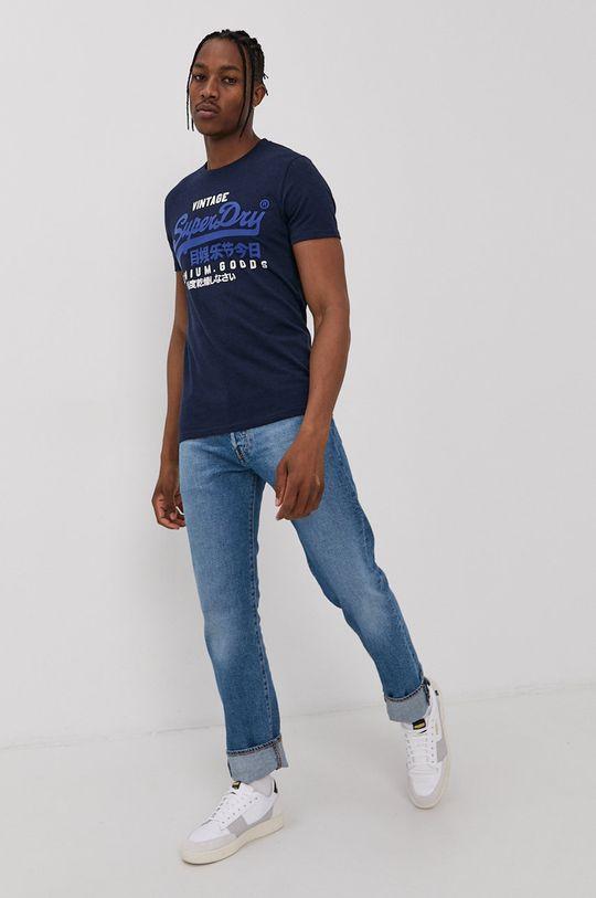 Superdry - T-shirt granatowy