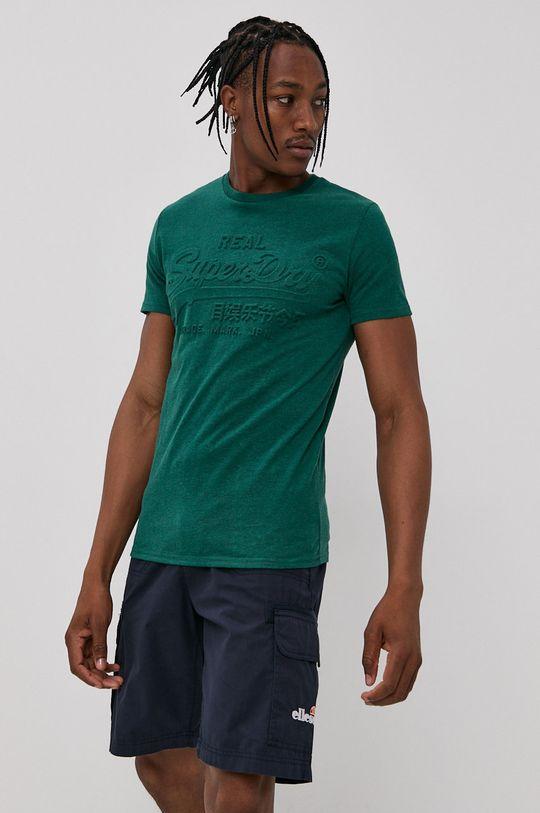 ciemny zielony Superdry - T-shirt Męski
