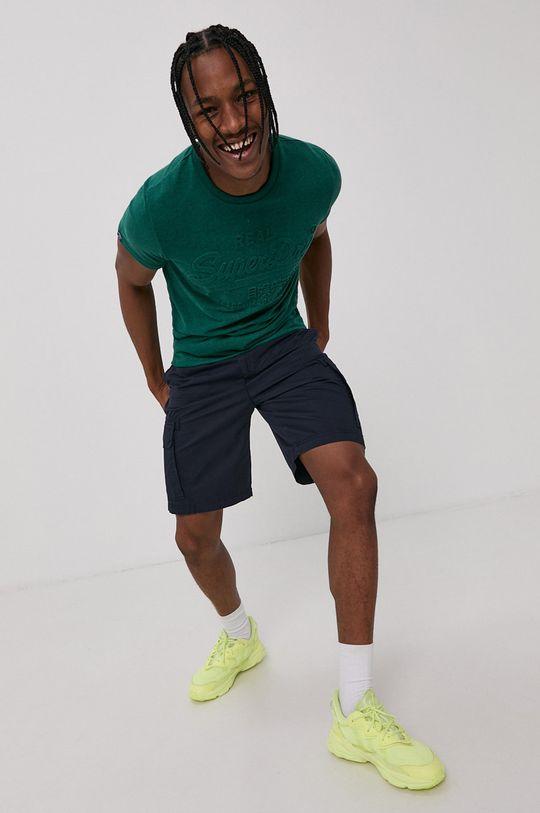 ciemny zielony Superdry - T-shirt