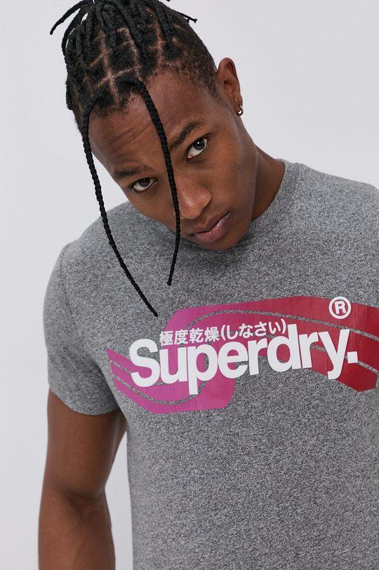 szary Superdry - T-shirt