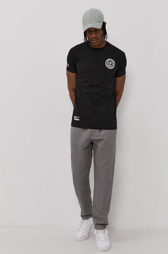 Superdry - T-shirt bawełniany czarny