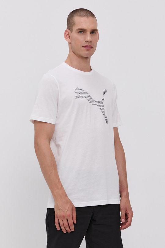 biały Puma - T-shirt bawełniany Męski