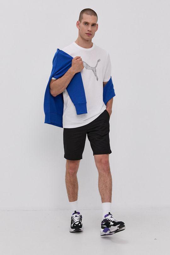Puma - T-shirt bawełniany biały