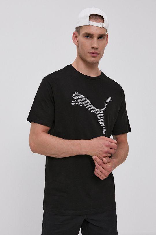 czarny Puma - T-shirt bawełniany Męski