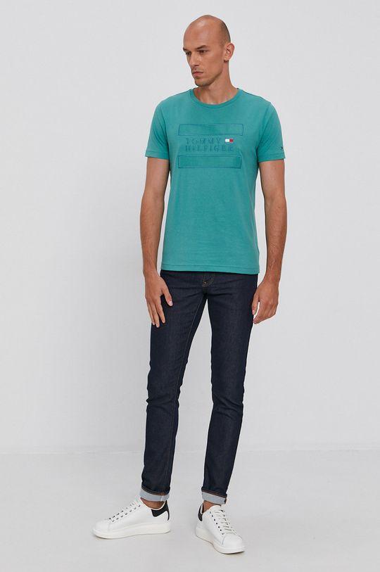 Tommy Hilfiger - T-shirt bawełniany zielony