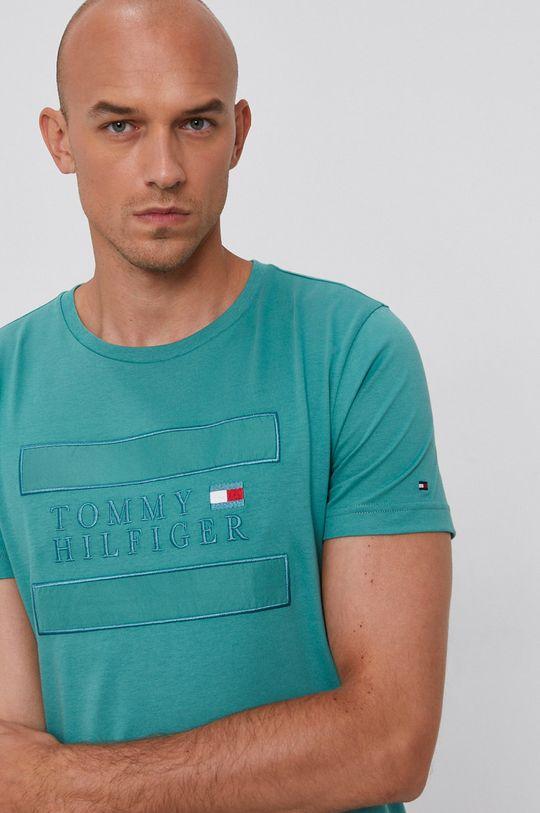 zielony Tommy Hilfiger - T-shirt bawełniany