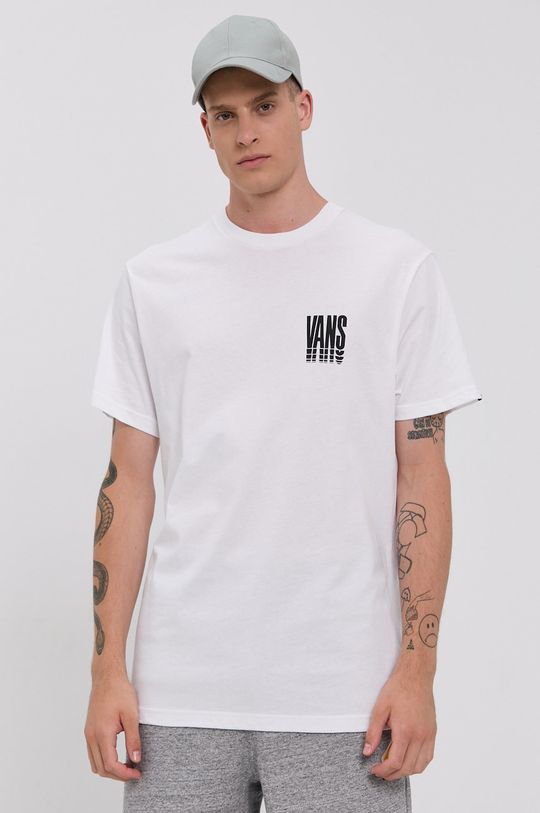 biały Vans - T-shirt bawełniany Męski
