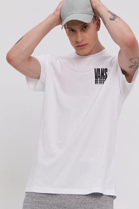 biały Vans - T-shirt bawełniany