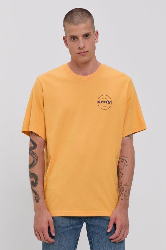 Levi's - Bavlnené tričko žltá