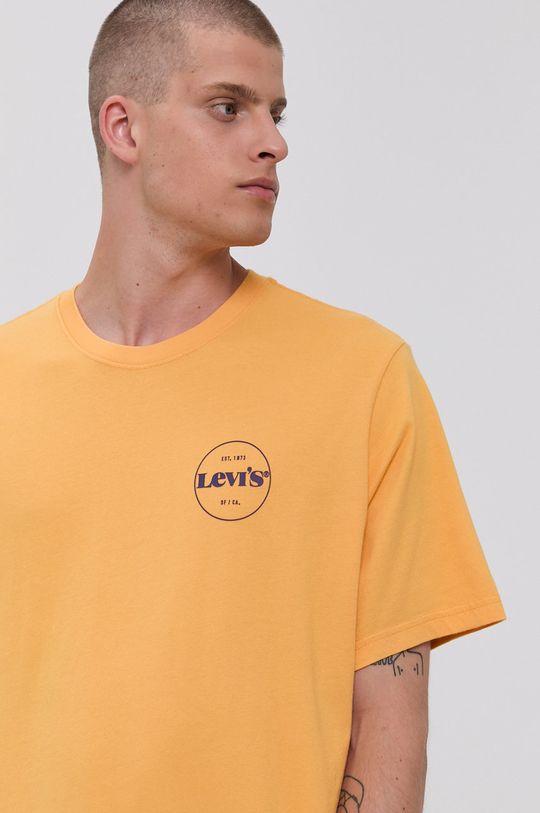 žltá Levi's - Bavlnené tričko