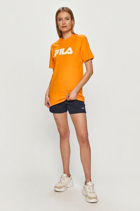 Fila - T-shirt pomarańczowy