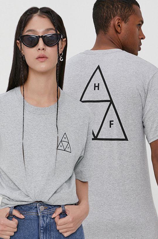 szary HUF - T-shirt Unisex