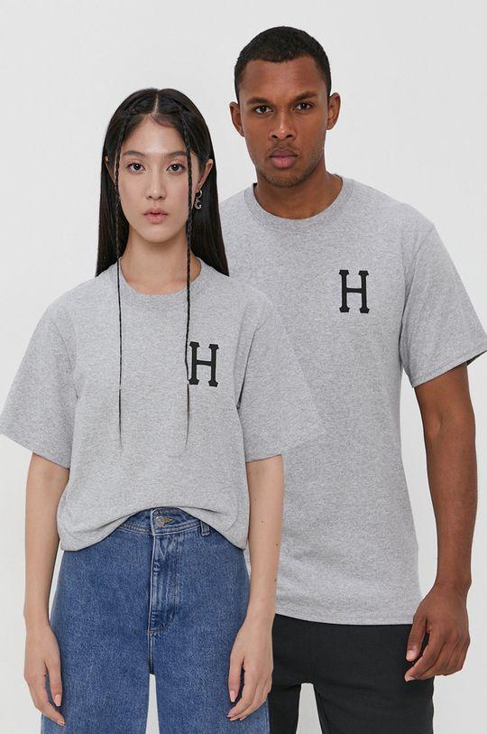 szary HUF - T-shirt bawełniany Unisex