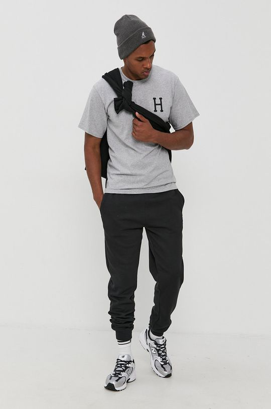 HUF - T-shirt bawełniany szary