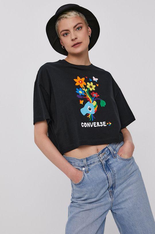 Converse - Tričko čierna