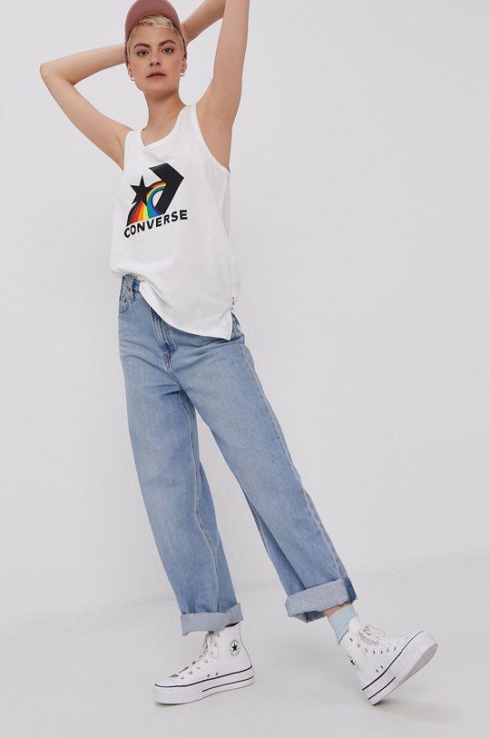 Converse - T-shirt PRIDE biały