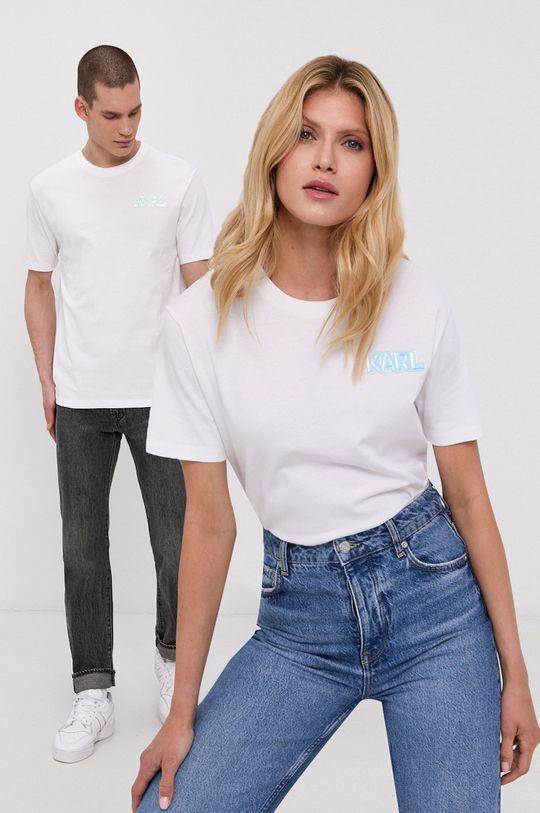 biały Karl Lagerfeld - T-shirt Unisex