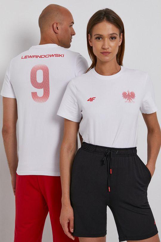 biały 4F - T-shirt Unisex
