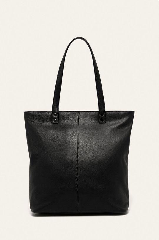 čierna Answear - Kožená kabelka Dámsky
