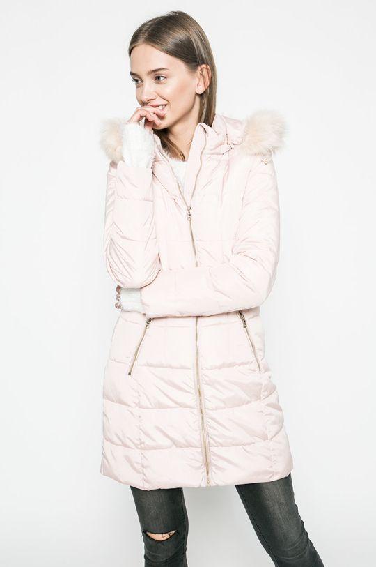 pastelová ružová Answear - Kabát Blossom Mood Dámsky