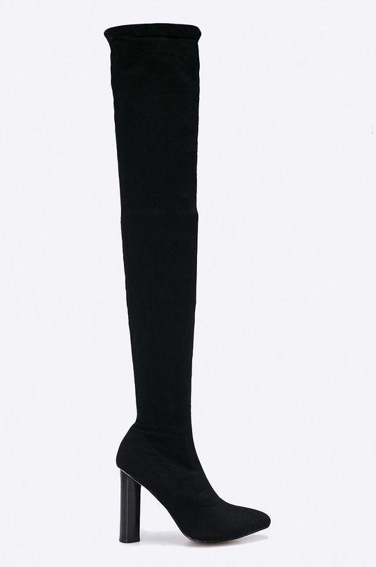 čierna Answear - Vysoké čižmy Secret Dámsky