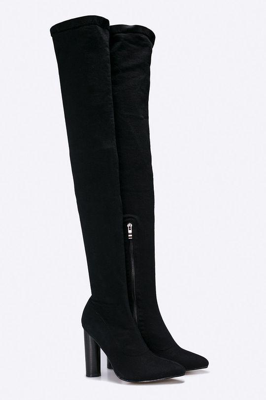 Answear - Vysoké čižmy Secret čierna