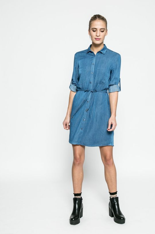 modrá Answear - Šaty Blossom Mood Dámsky