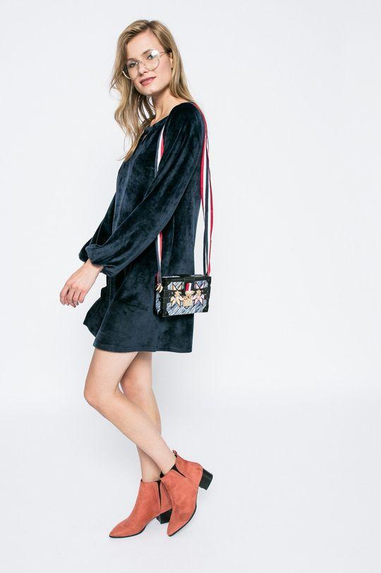 tmavomodrá Answear - Šaty Blossom Mood